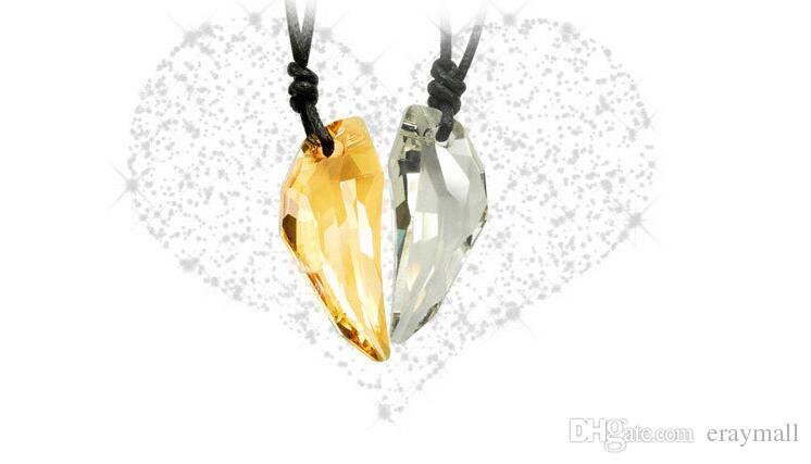 Colgante de cristal austriaco collar de los amantes de los dientes de lobo para hombres y mujeres es pueden elegir el envío gratis