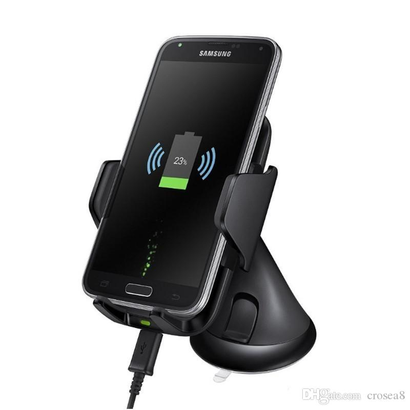 Newnest Wireless Car Mount Charger Antye Vehicle Qi Wireless Charging Dock for Samsung Galaxy s7 edge s8 plus note8 iphone 8 X with package