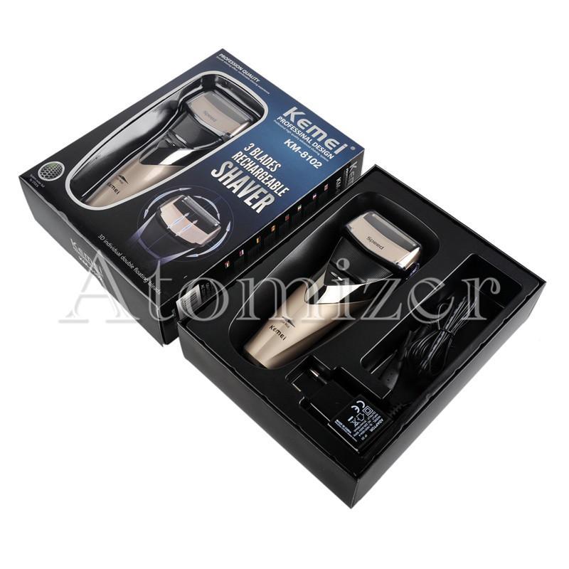 KE-8102 전기 면도기 면도기 재충전 용 왕복 이중 그루머 EU 플러그 블랙 골드 KEMEI HAIR 면도기 EU 플러그 0604065