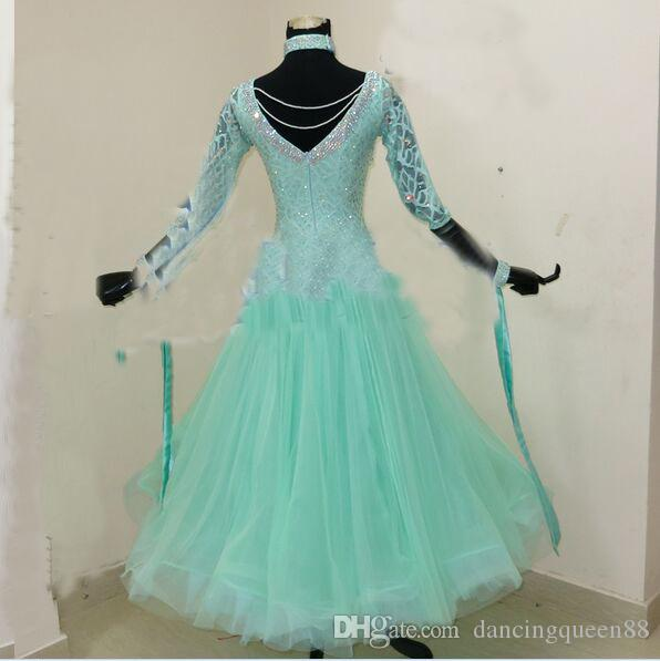 2018 Maßarbeit New Style! Standardtanzkleid, Waltz Competition Kleid, Damen, Gesellschaftstanzkleid Dancewear Tanzkleid