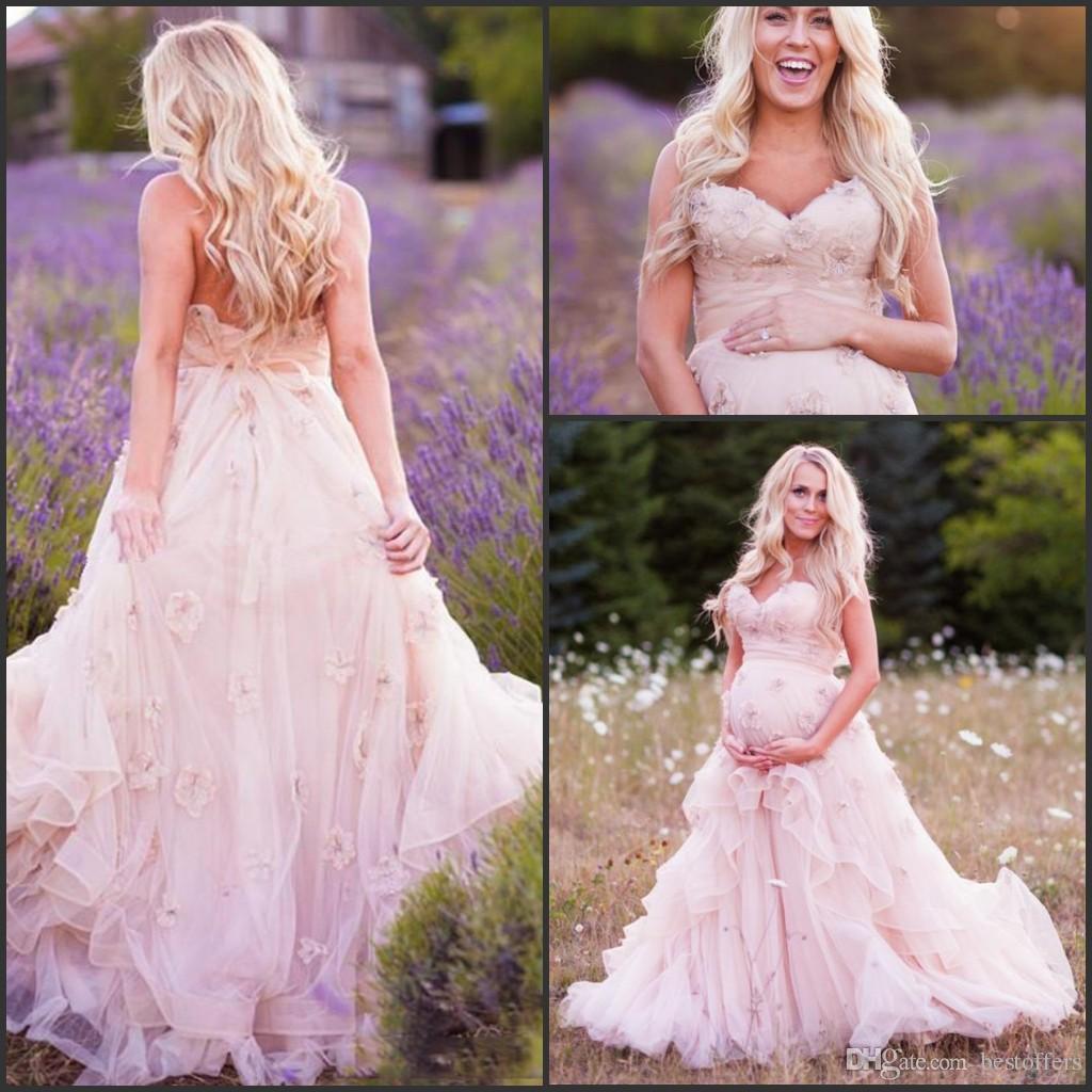 Winter Baby Shower Dresses: Plus Size A Line Wedding Dresses For Pregnant Women 2017