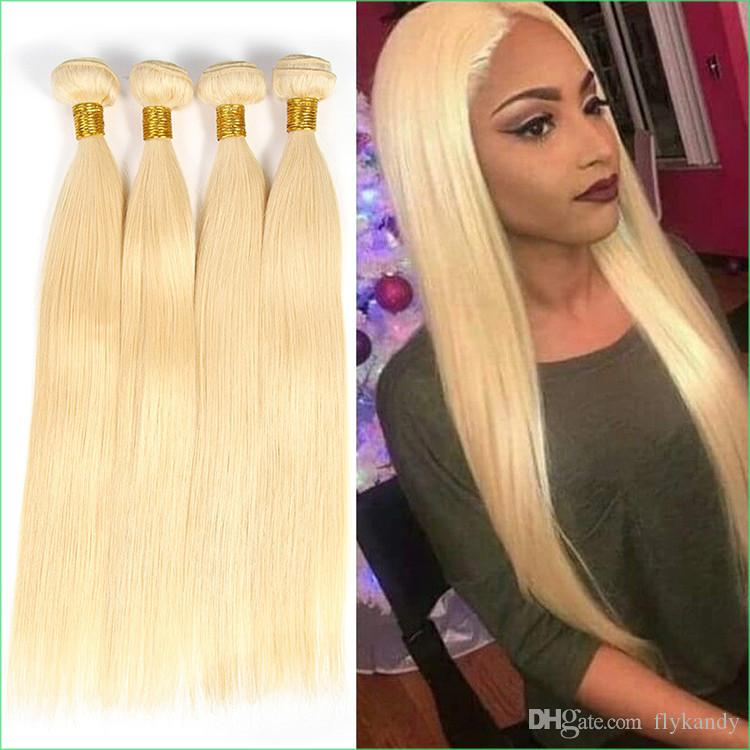 613 Light Blonde Indian Remy Hair Extensionluxury Double Drawn