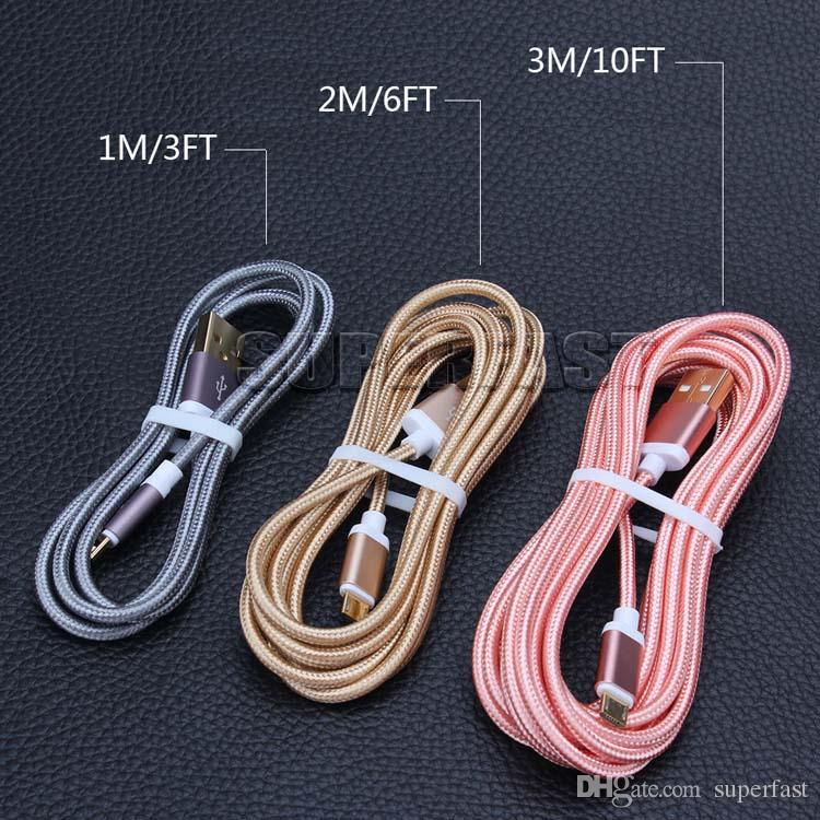 USB Charging Cable Fabric Braided 56K Ohm Resistor Cooper Data Sync USB Cable High Speed Charging Cable Type C Cord for Samsung S8
