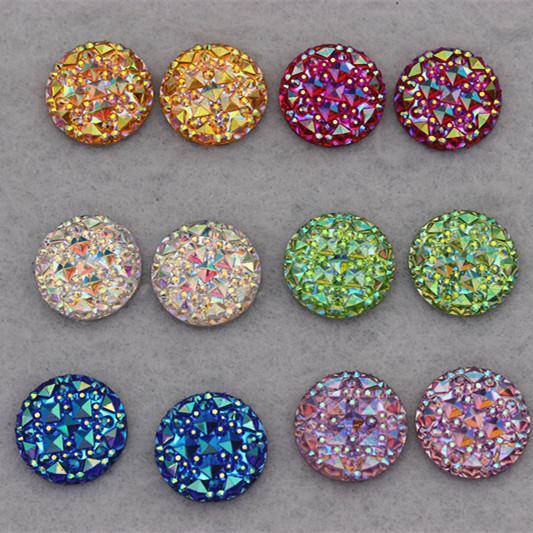 100 sztuk 18mm Okrągłe Akrylowe Dżetów Akrylowe Kryształ Płaskie Powrót Dżetów Akcesoria Biżuteria ZZ3
