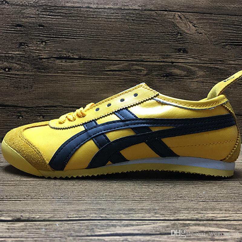 Asics Tiger Bruce lee Chaussures plates Chaussures De Course Hommes Et Femmes En Cuir Confortable Zapatillas Athlétique Baskets De Sport En Plein Air