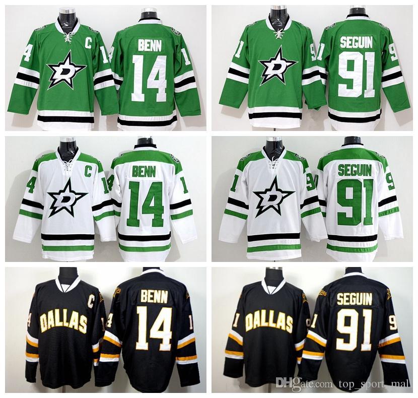 ... australia 2018 newest dallas stars 14 jamie benn jersey green white  black color 91 tyler seguin 0da87e0af
