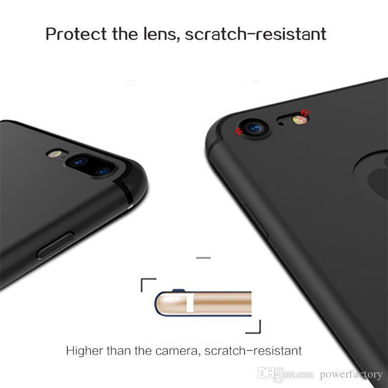 Luxe mat mince souple TPU anti-poussière pour iPhone 11 x pro xs max xr 8 7 6 6S Plus SE 2020 Full Back Case 5S couverture