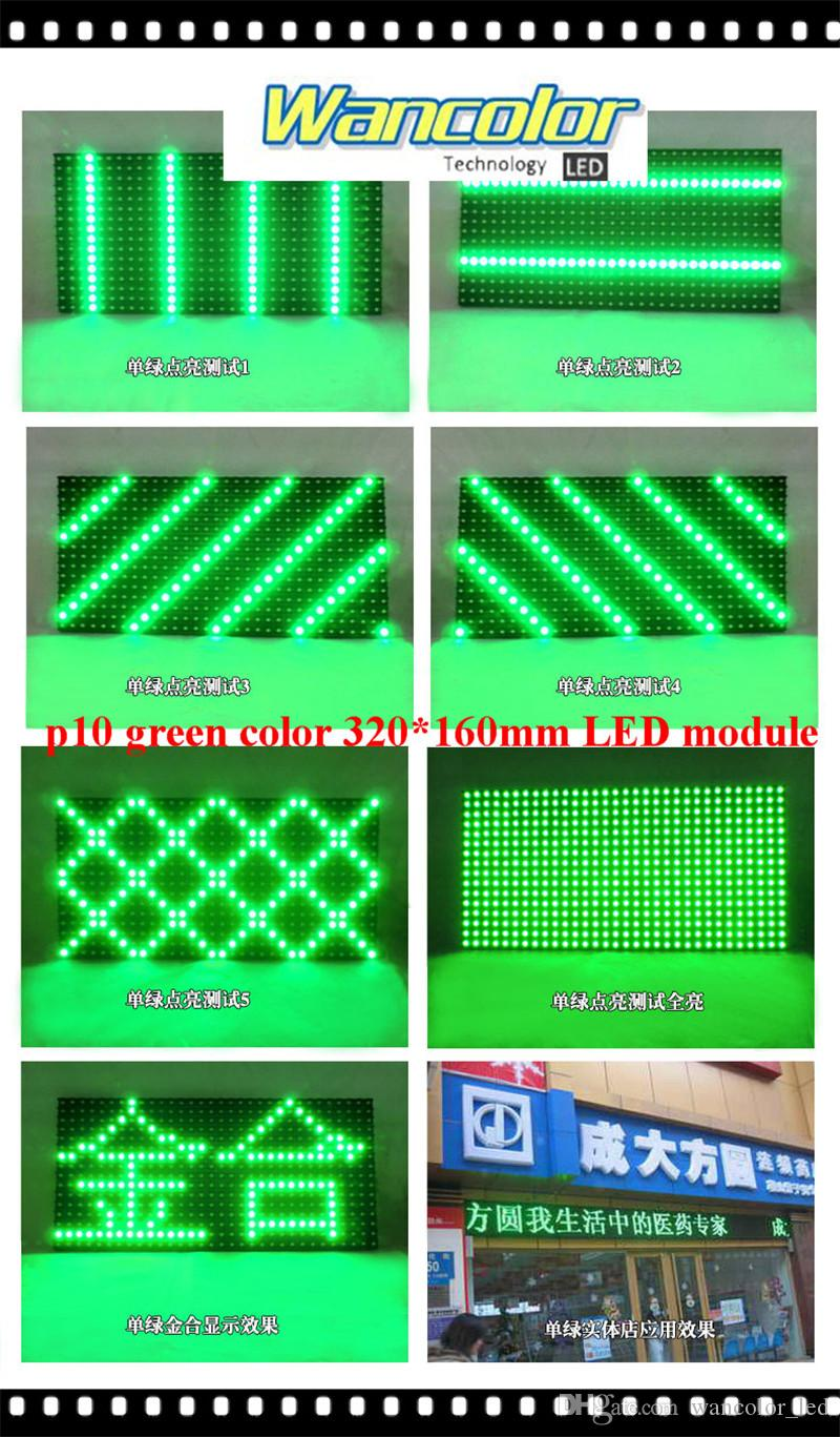 бесплатная доставка заводская цена 20 шт. P10 открытый светодиодный дисплей прокрутки зеленый цвет P10 дисплей модуль+2 шт. блок питания + wifi контроллер