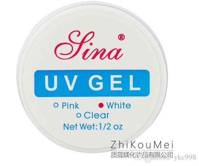 Sina UV Gel Builder Розовый + Белый + Прозрачный Три цвета Nail Art Glue Ложные советы Nail Art Salon Sina UV Gel Builder Гель