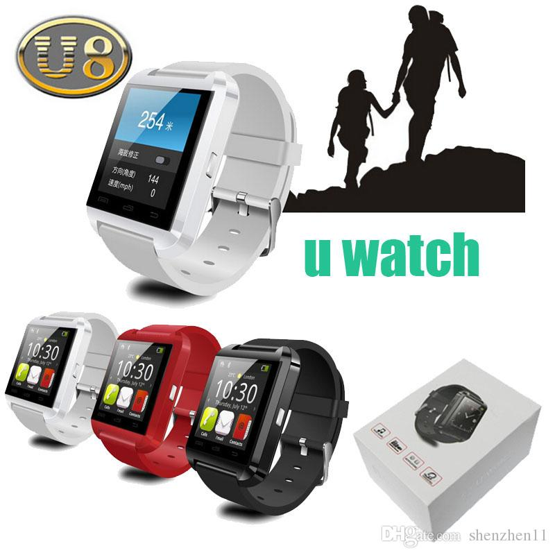 sports shoes 63228 bf7f8 Bluetooth U8 Smartwatch Wrist Watches With Altimeter For iPhone 6 Samsung  S6 Note 5 HTC Android Phone In Gift Box dhl free OTH014