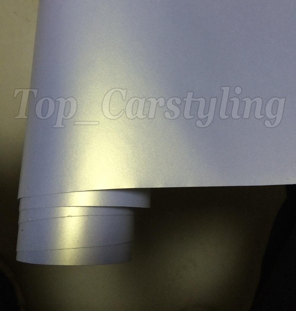 Chameleon Pearlescent Matte White gold Vinyl Wrap With Air Release Satin pearl white Matt Film For Car Wrap styling skin size 1.52x20m/Roll
