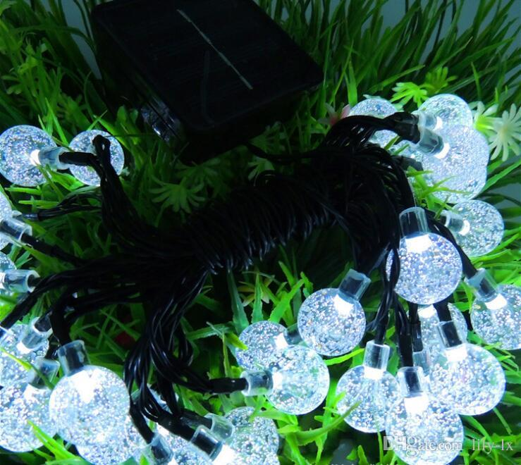 New arrival Solar LED bubble ball light led string outdoor led christmas lights waterproof 6m 30 led bulbs