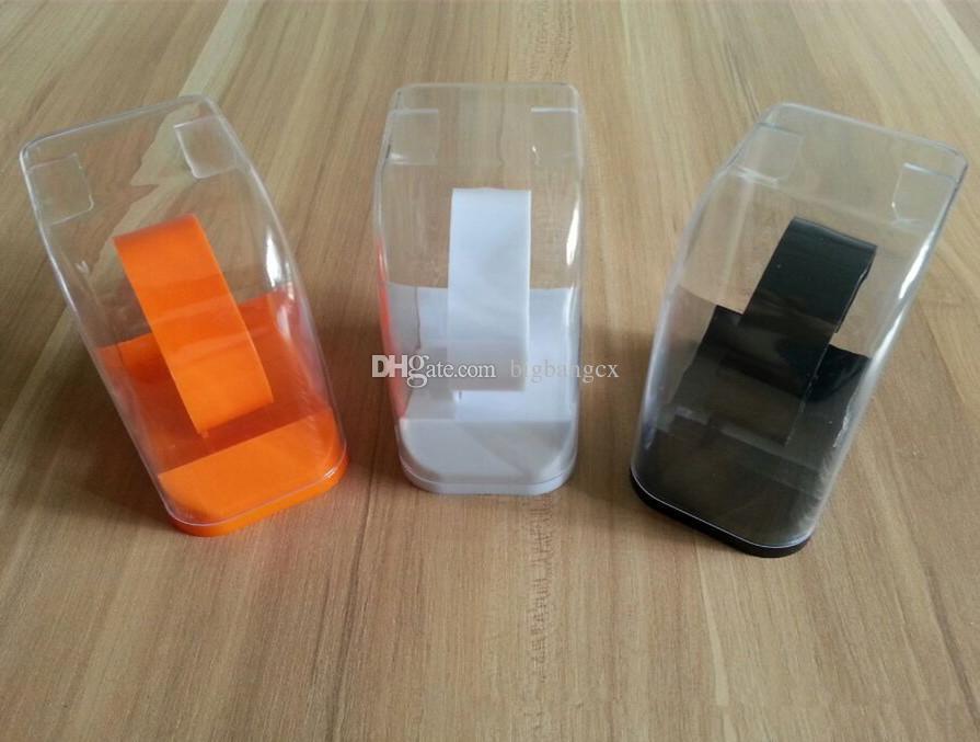 Orijinal spor Yeni stil İzle ambalaj Kutusu Ekran kol saatleri Kutuları Küp Temizle Plastik Kutu Beyaz Siyah spor izle 5.5 * 7.5 * 9.4 cm