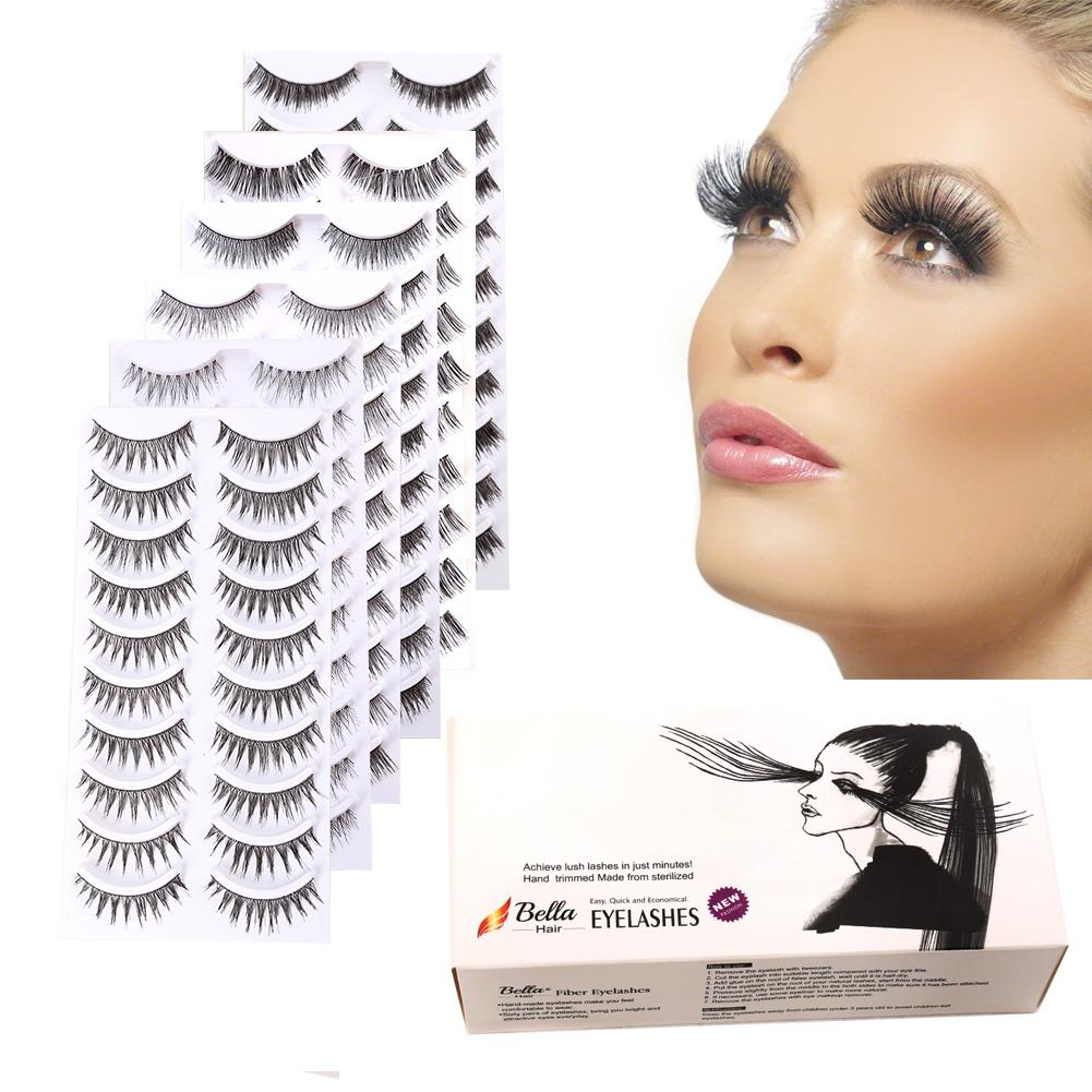 Amazing Beautiful Artificial Eyelashes MakeupTools Synthetic Eyelashes Extensions Bellahair