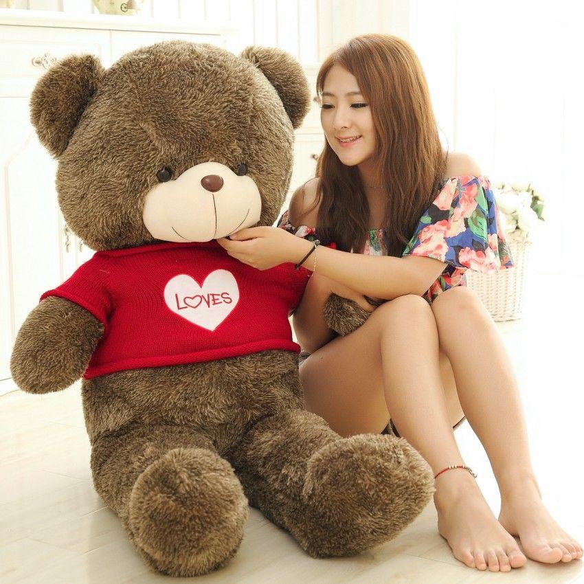 TEDDY BEAR STUFFED LIGHT BROWN GIANT JUMBO TEDDY BEAR PLUSH HUGE SOFT TOY Plush Toys Valentine's Day gift/ Birthday gifts /New Year's gift