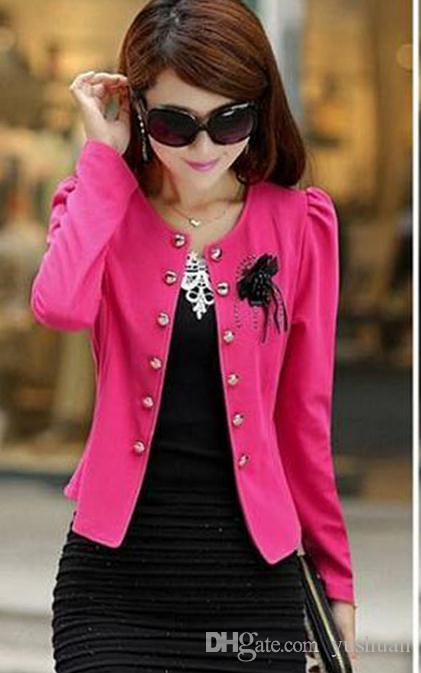 Fall 2016 paragraphs short leisure female suit, cultivate one's morality show thin thin female small jackets fertilizer plus-size coat