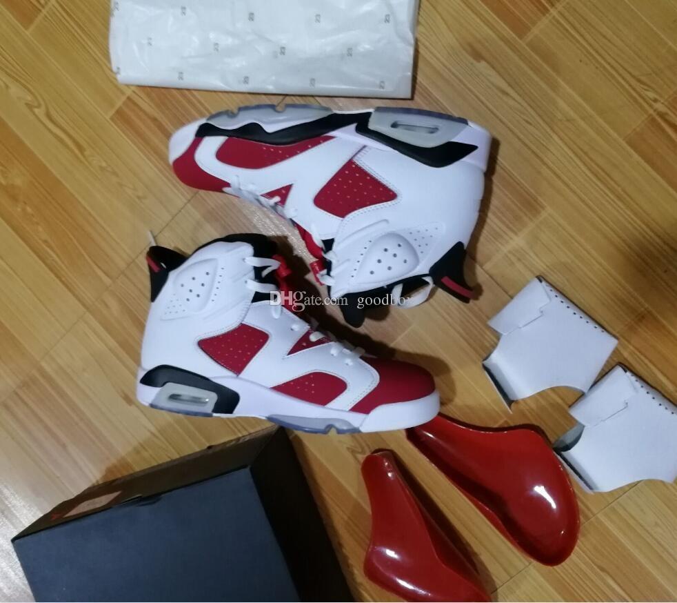 Atacado Sapatos de Basquete VI 6 CARMINE UNC 6 S OG MAROON 6 Qualidade Quentes Homens sapatos Com Caixa