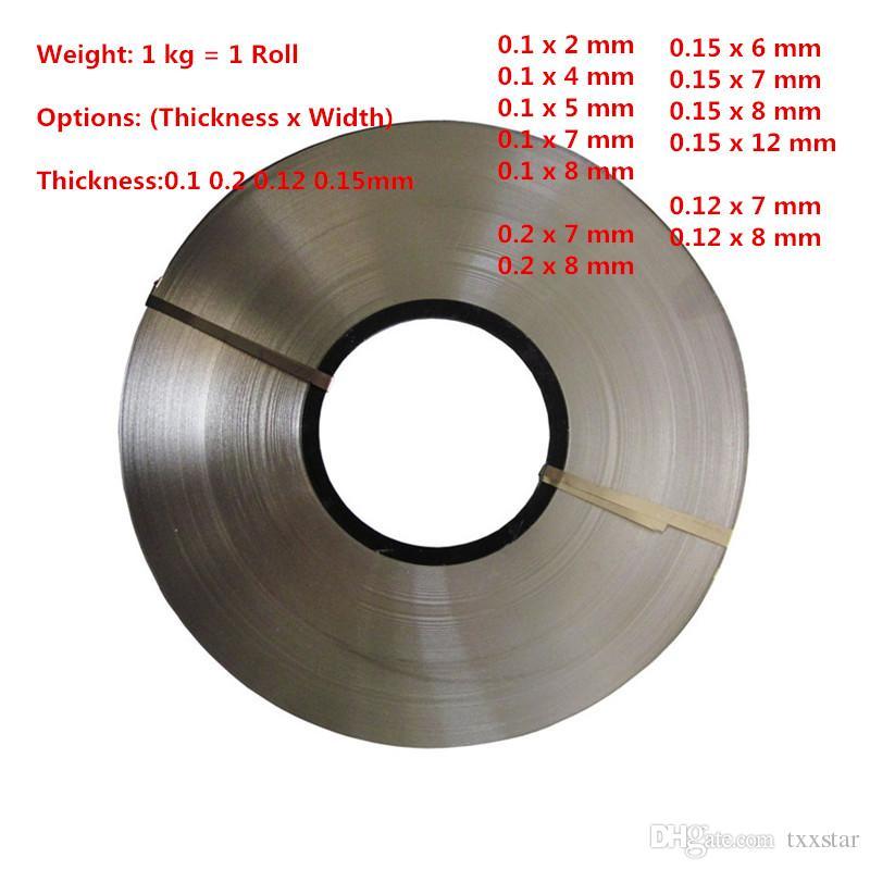 2019 Thickness 0 1mm 0 12mm 0 15mm 0 2mm 1kg Roll Nickel