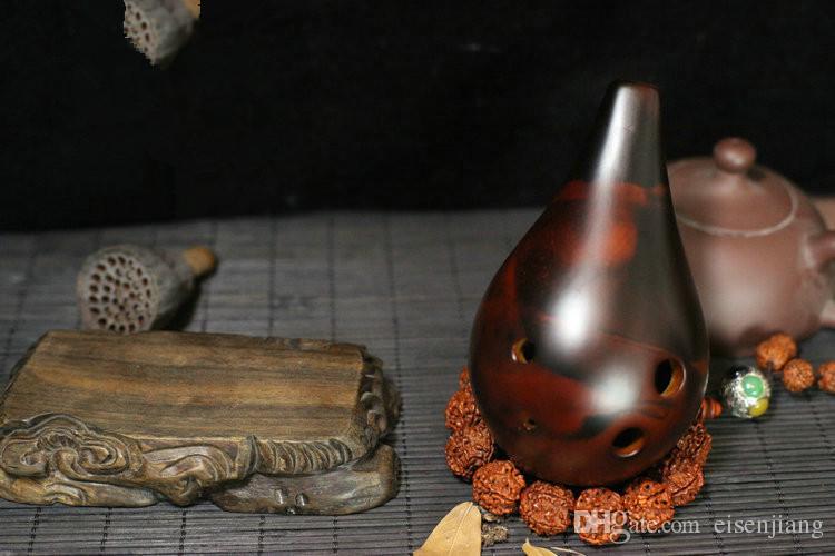 6 fori buco crepacci ghiaccio xun vento antico - flauto di ocarina f tono f Alto F impara l'apprendimento pigro di Xun Xun