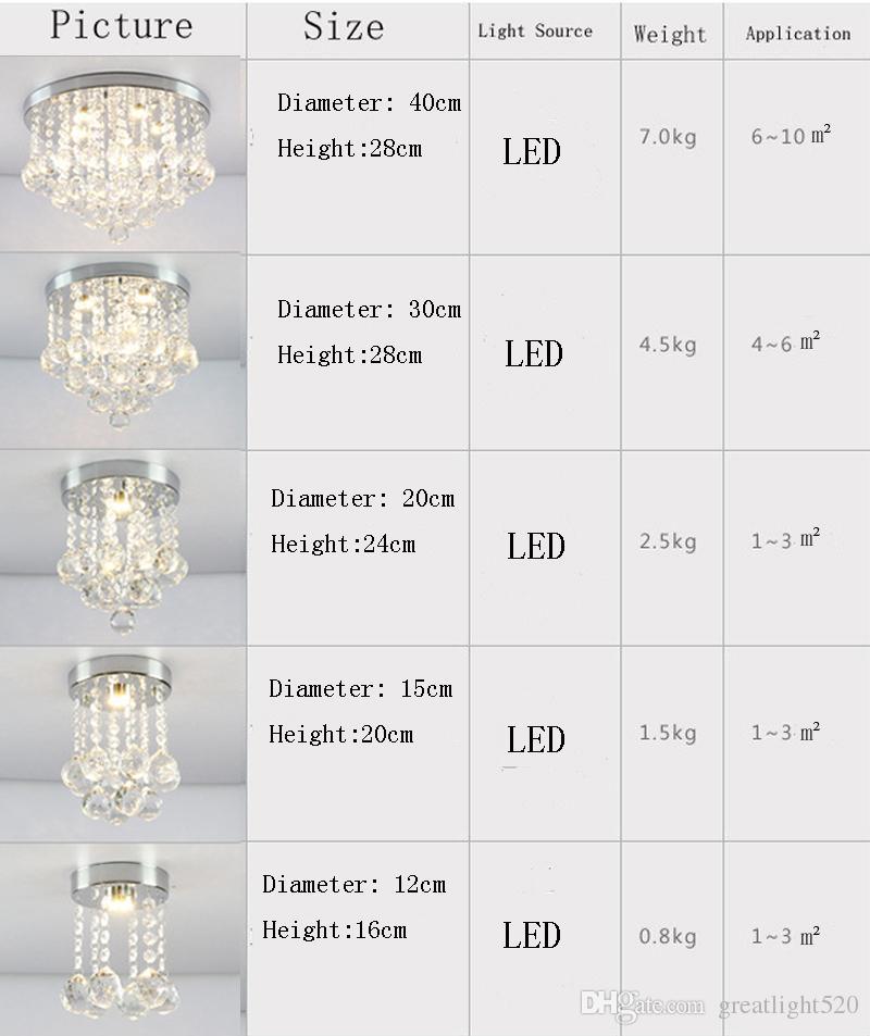 Rodada K9 de cristal do teto Luz Droplights prata Chrome teto Pendant Light Chandelier variedade de luz Montagem de cristal Lamp # 13