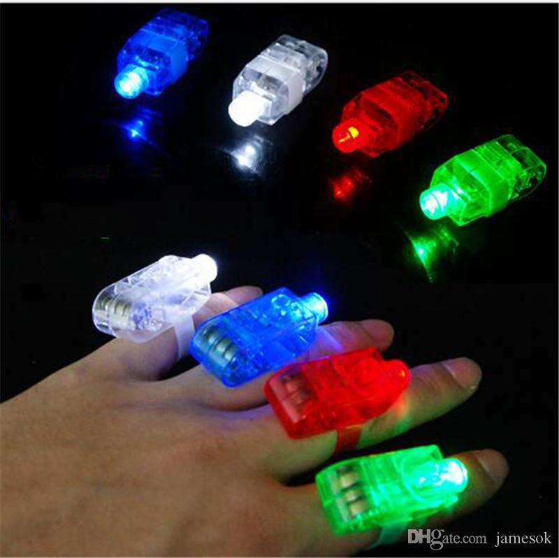 Hot Sale Led Finger Ring Laser Beam Torch Balloon Light Blue Favors And Gifts Navidad Hot Selling for Decoration TO342