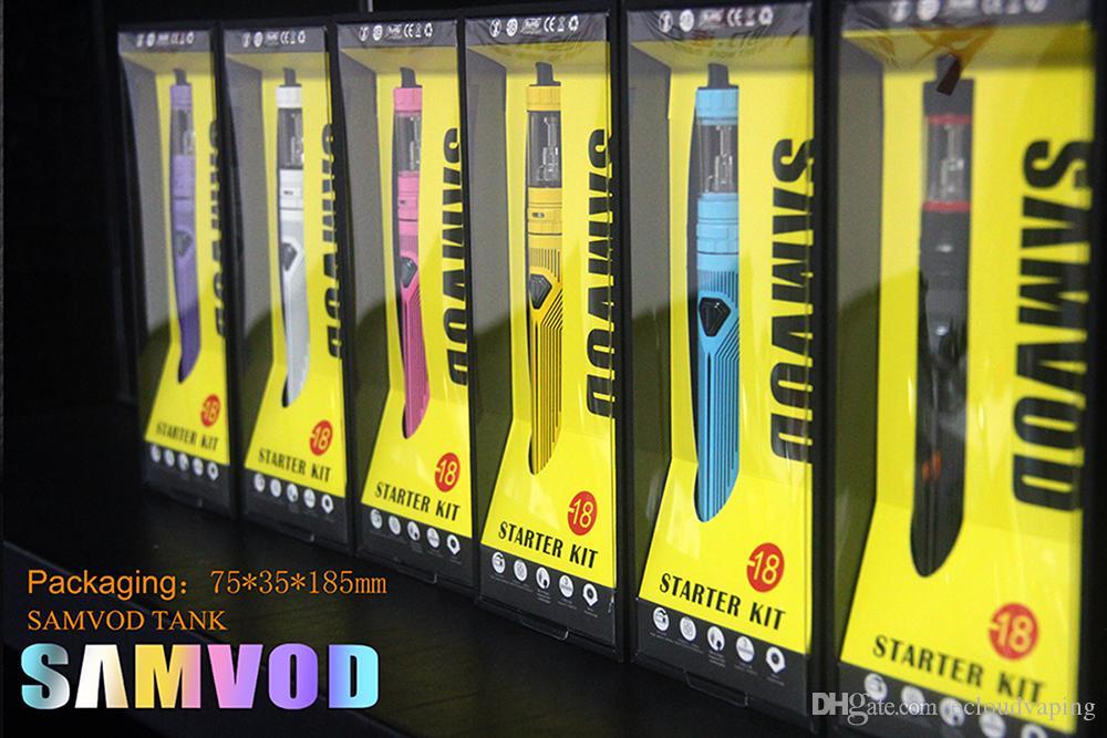 100% Original Samvod Ego Mod Vapor Kit 1600mAh battery Sub Ohm Tank vaporizer ecigs kit vs subvod kit subvod mega kit