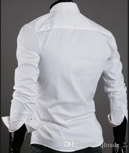 Herrenhemden Business-Langarm-Shirt Business-Casual Langarm-Shirt koreanischen Stil