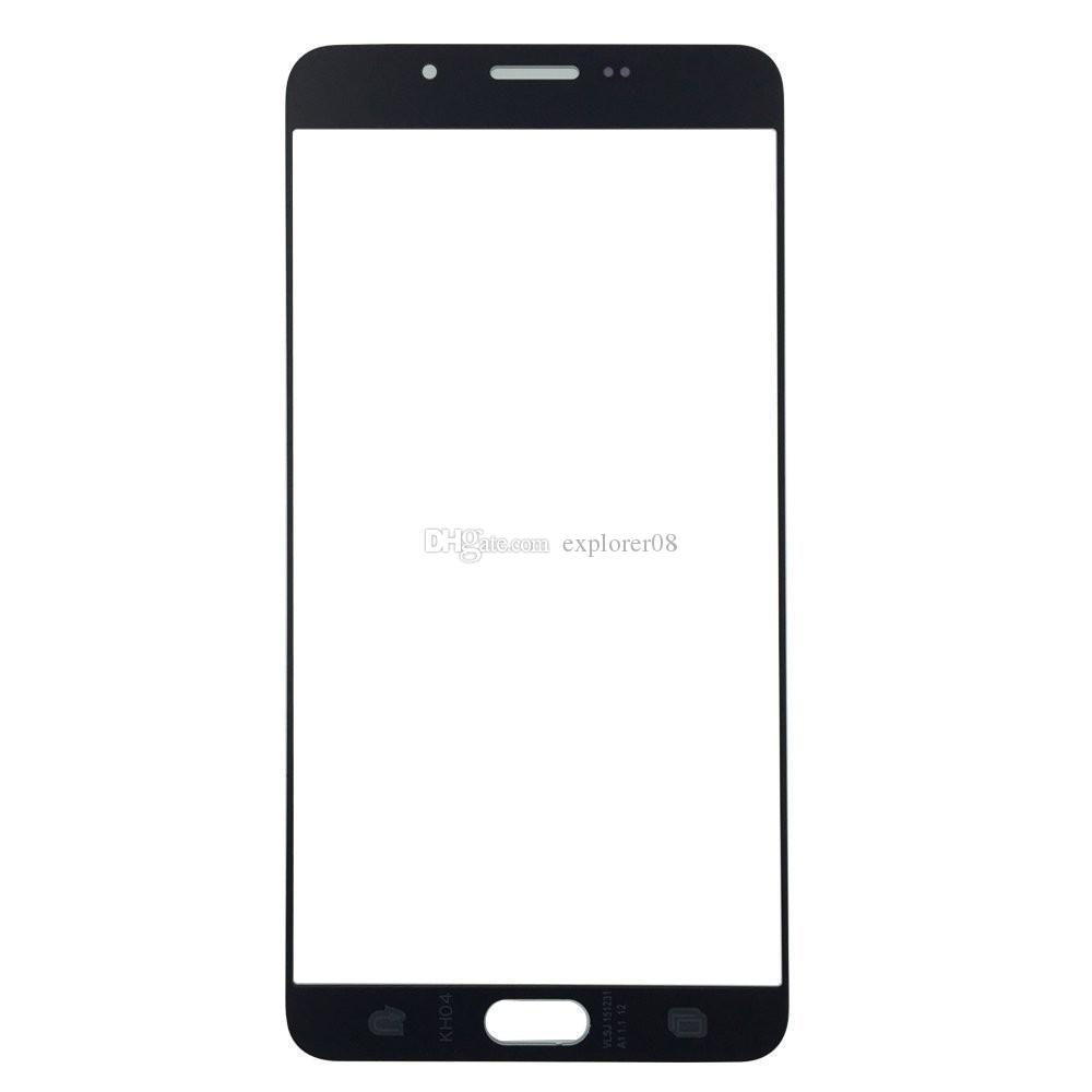 Grad A + für Samsung Galaxy A9 A5100 A7100 VS Hinweis 2 Hinweis 4 Frontaußenglasobjektiv mit OCA-Film vormontiertem Balck White
