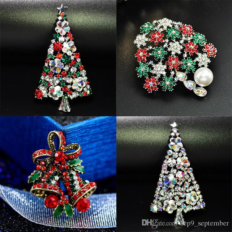 best new arrival christmas brooch rhinestone crystal brooches jeweled christmas trees brooch and pin clothes decor christmas gifts under 262 dhgatecom - Jeweled Christmas Trees