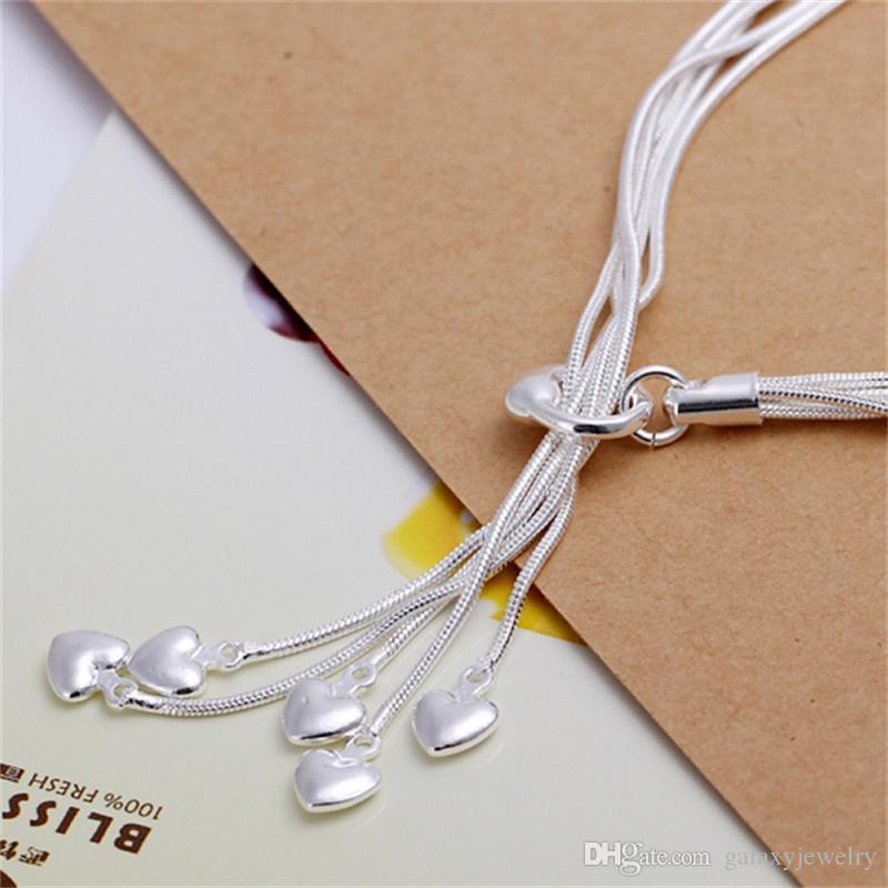 YHAMNI Марка роскошные ювелирные изделия стерлингового серебра 925 браслет ювелирные изделия сердце браслет для женщин мода Шарм браслеты новый бренд ювелирных изделий H067