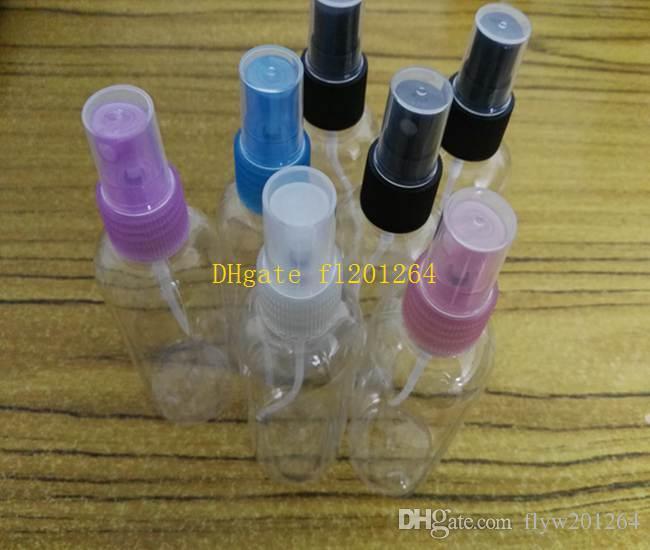 Top billig gute qualität Reise Nachfüllbare Mini Parfüm 100 ml Farbe transparent Flasche Zerstäuber Spray Kostenloser Versand