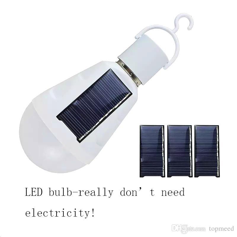 E27 Güneş ışıkları E27 7 W Solar Lamba 85-265 V Enerji Tasarrufu Işık LED lambalar Akıllı Lamba Şarj Edilebilir Güneş Acil Ampul Günışığı