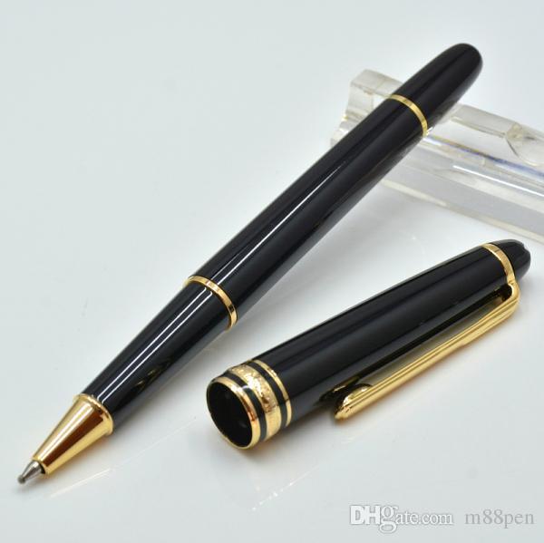Alta calidad 163 negro bolígrafo de resina / Roller ball pen / Pluma estilográfica con papelería de oficina de lujo de cinco plumas de tinta de escritura regalo
