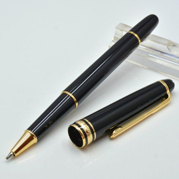 Alta qualità 163 brillante penna a sfera nera / penna a sfera Roller / Fountain pen ufficio di cancelleria inchiostro penne di promozione regalo