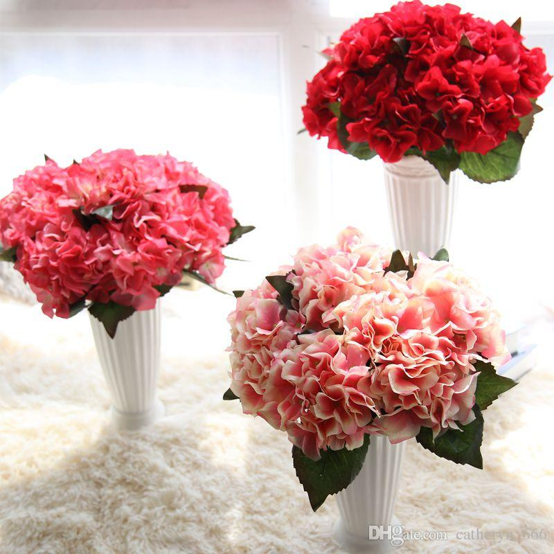 Hydrangea With Big Flower Head For Spring Season Artificial Flower