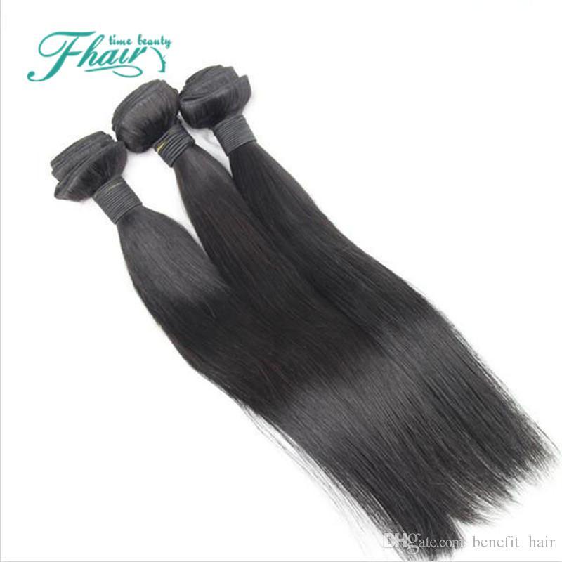2016 горячие продукты 100% необработанные 7А норки бразильский Прямой 3 пучки много Мокко продукты волос бразильский прямые человеческие волосы