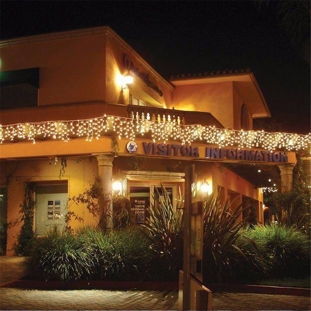 christmas lights outdoor decoration 4 meter droop 03 05m led curtain icicle string lights