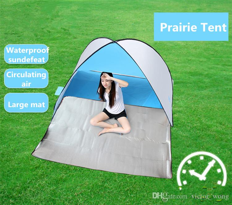 Beach tent Outdoors Tents the Summer Outdoors Tents 2016 Camping Shelters for Two People Double Aluminum Rod Against DHL Fast Shipping