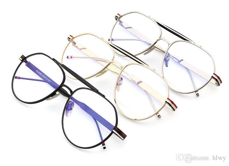 Mode Nouveau pilote monture de lunettes en métal de lentille plate pour la radiation de bureau ordinateur lunettes PSTY8060 livraison gratuite