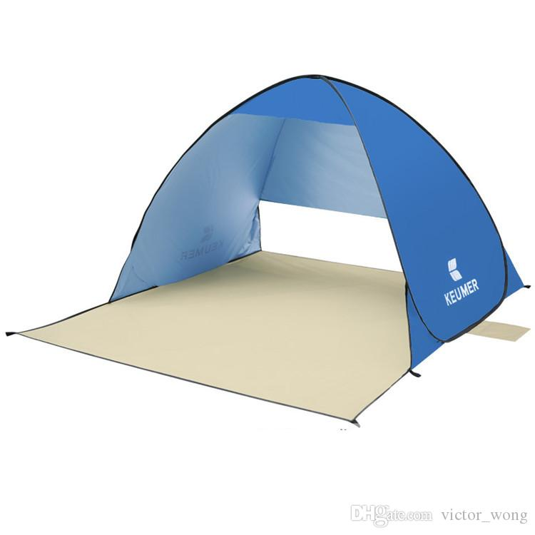 Tenda della spiaggia fresca all'aperto Tende le tende di estate all'aperto 2016 Ripari di campeggio due persone Doppia asta di alluminio contro trasporto veloce di DHL