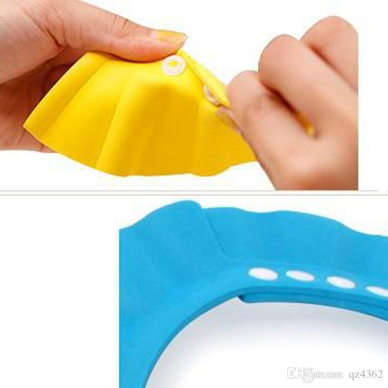 2018 Safe Shampoo Shower Bath Protection Soft Caps Baby Hats For Kids 7-12 months