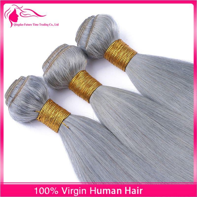 Nuovi peli di capelli grigio nastro di arrivo con chiusura in pizzo 4 pezzi / lotto peruviano vergine grigio pizzo capelli umani chiusura con capelli tesse
