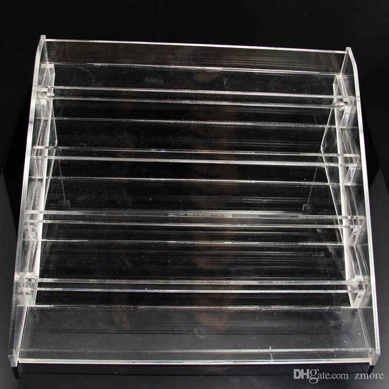 5 Layer E Liquid Acrylic Display Stands Clear Holder For Ecig Store 5ml 10ml 15ml 20ml 30ml Vape Juice Bottles Show Shelf Racks