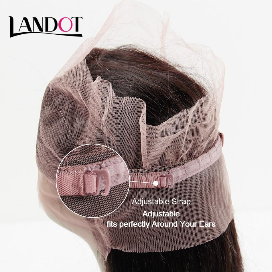 360 de dentelle Frontal Fermeture 22.5 * 4 * 2 Taille droite Vierge Closures Cheveux Brésilien Péruvien Indien Malais Pre plumé Elastic Band