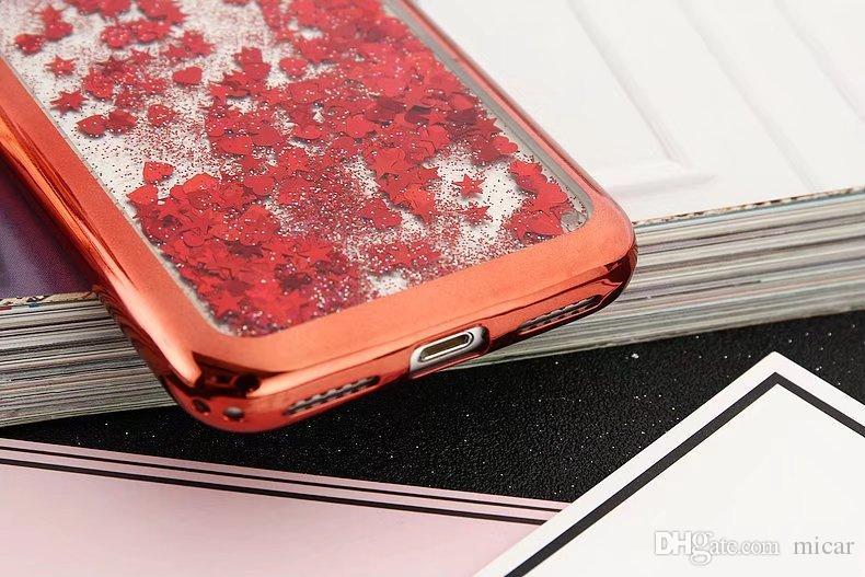 3D милый кролик уха Stander Case для iPhone X 7 plus мягкий кремний PC блеск жидкий зыбучий песок для iPhone 6 6Plus девушка крышка