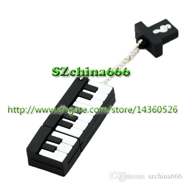 Pinao PenDrives Silicone Music instrument USB 2.0 Flash Drive Memory Stick Pen Thumb Drive 100% Real 8GB 16GB 2GB 4GB Opp Bag