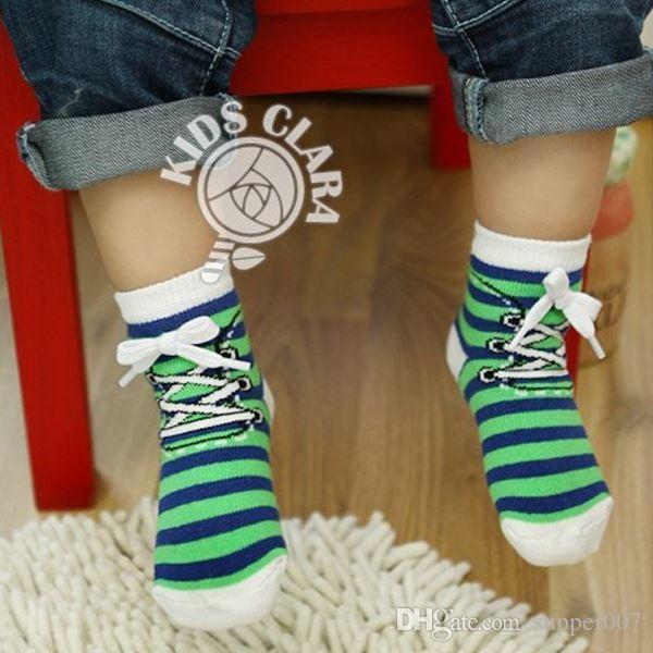 01e00b10b LovelyNew Kids Baby Socks Cotton Shoelaces Style Anti Slip Short 0 4Years  Online Shopping Socks Knee High Sock From Supper007