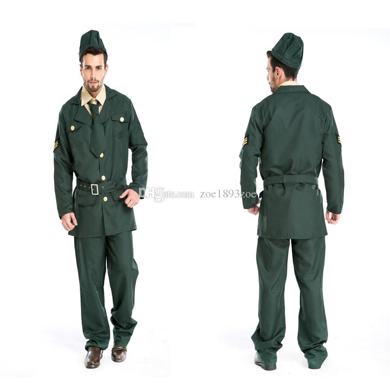 Sexy Army Soldier Costumes Men Halloween Costumes Military Officer ...