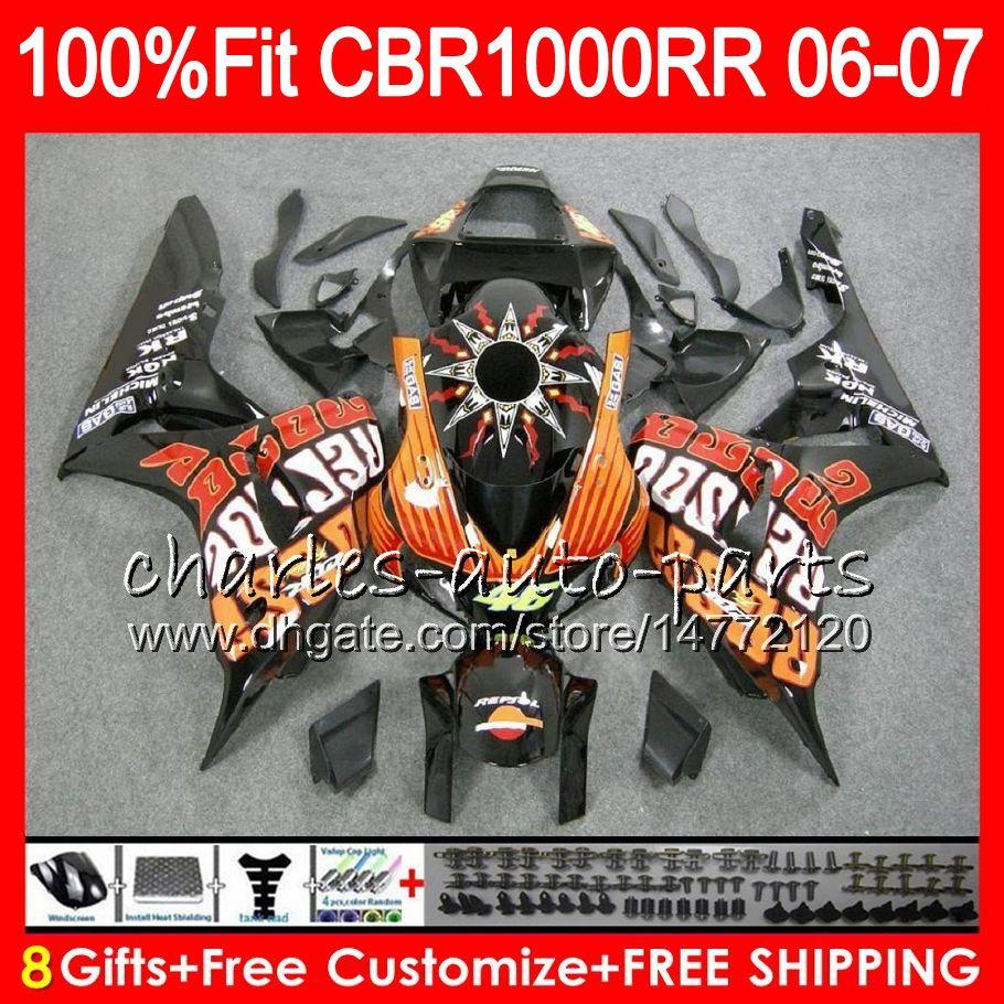 Injection Body For Honda Cbr 1000rr Repsol Orange Cbr1000 Rr 06 07