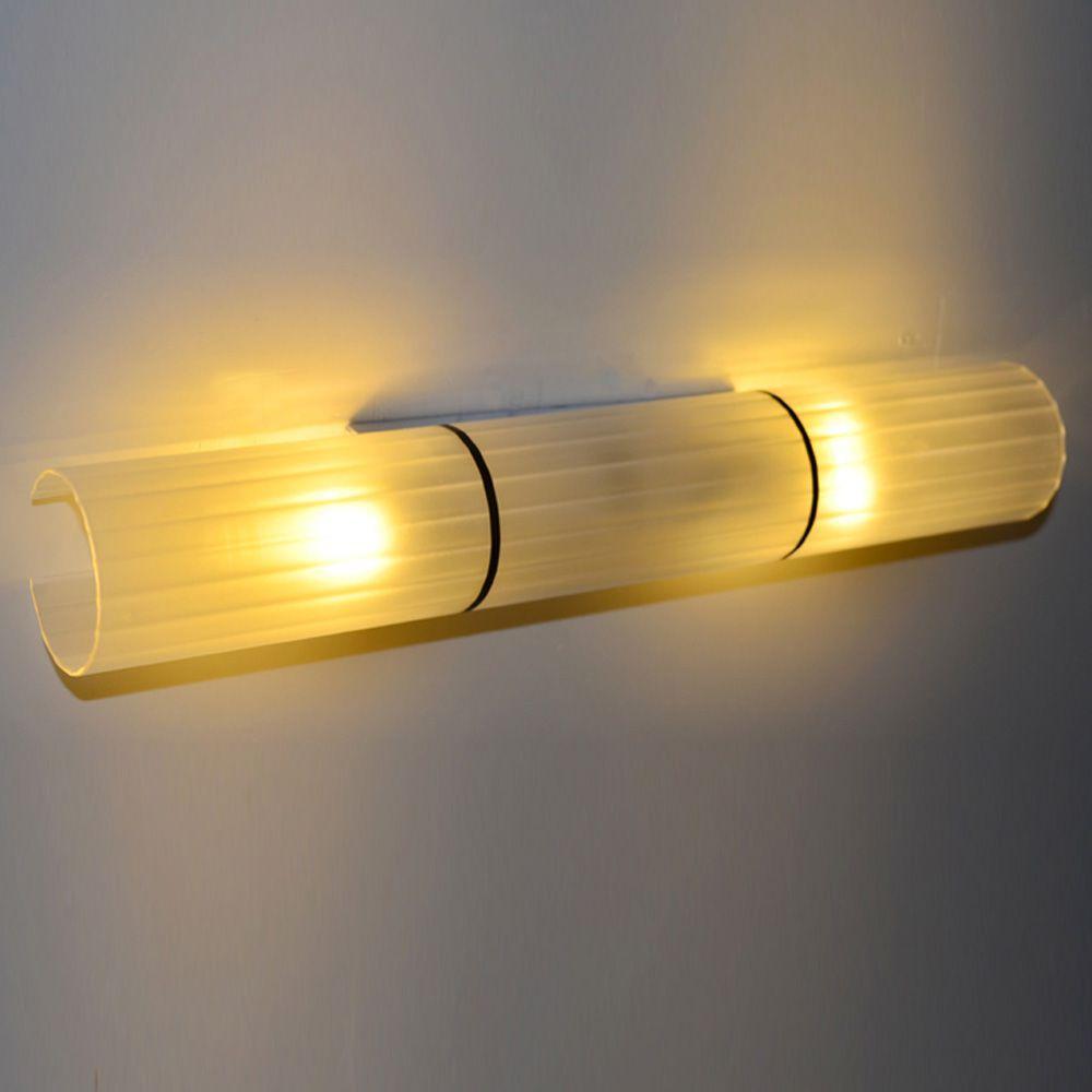 Simple Glass Mirror Lights Fashion Bathroom Washroom Wall Lamp Sconces Hallway Wall Light Bedroom Wall Lamps